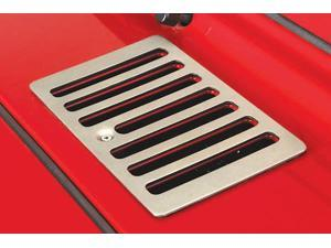 Rugged Ridge 11185.69 Cowl Vent Cover, Satin Stainless Steel, 98-06 Jeep Wrangler