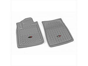 Rugged Ridge 84904.21 Floor Liner, Front Pair, Gray, 2012-2014 Toyota Tundra And Sequoia