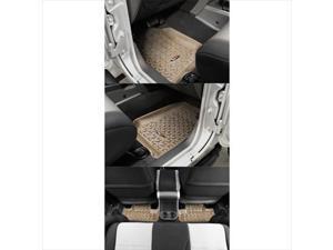 Rugged Ridge 13987.02 Four Piece Tan Floor Liner Set For 07-10 Wrangler 2 Door JK
