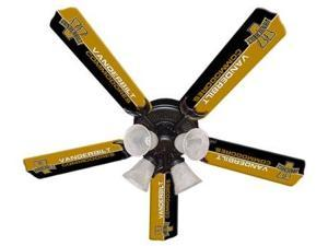 Ceiling Fan Designers 7995-VAN New NCAA VANDERBILT COMMODORES 52 in. Ceiling Fan