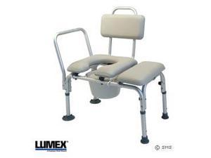Padded Transfer Bench W/ Commode