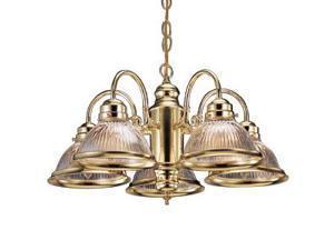 Design House 500546 Millbridge 5-Light Chandelier, Polished Brass Finish - 500546