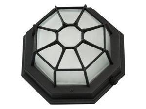 Efficient Lighting EL-109-113-BLK Outdoor Flushmount, Exterior Ceiling Light Fixture, Energy Star Qualified