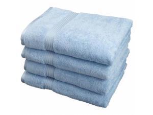 Superior Egyptian Cotton 4-Piece Bath Towel Set  Light Blue