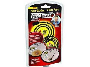 Turbo Snake Flexible Stick Drain Opener - As Seen On TV-TURBO DRAIN SNAKE
