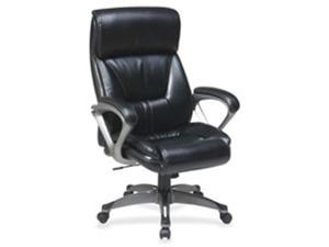 Lorell LLR52121 Executive Eco Chair, 27.5 in. x 28.25 in. x 46.5 in., Black