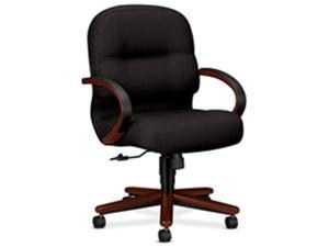 HON Company HON2192CSR11 Managerial Mid-Back Chair- 26-.25in.x28-.75in.x41-.75in.- HTBK-Lthr