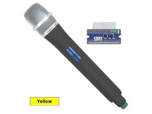 VocoPro UMH-M UHF Module and Wireless Handheld Mic is compatible with the UHF-5800, PA-MAN, UHF-8800 and the PA-PRO 900 - 656.825 MHz Yellow