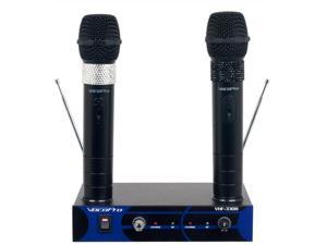 VocoPro VHF3308 Dual Channel VHF Rechargeable Wireless Microphone System