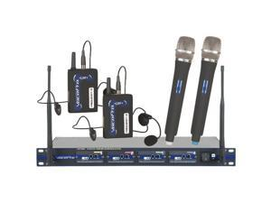 Vocopro UHF5800HB8 Professional 4 Channel UHF Wireless Microphone System Frequency - U, V, W, X
