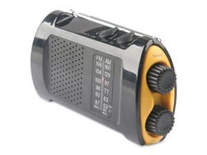 Acme United Corporation ACM90423 Emergency Crank Radio with Flashlight, Yellow-Black