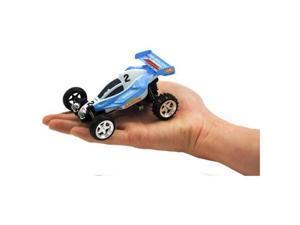 Microgear EC102553-Blue Radio Controller Rc Go Kart Mini Buggy Blue Car 1-43 Scale