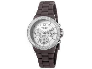 Invicta IBI-43944-005 Womens Chronograph Silver Dial Date Fashion Brown Band Date Watch