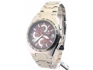 Croton CC311282SSBR Mens Steel Chrono Tachymeter Watch