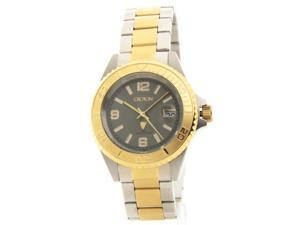 Croton CA301252TTGY Mens Two-Tone Stainless Steel & IP Gold Date Casual Watch
