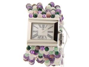 Movado 7101054 Womens Swiss Bellina Multicolored Pearl Bracelet Stainless Steel Watch