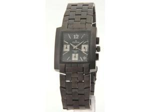 Croton CC311332BKBK Mens Stainless Steel Black IP Chronograph 3 Eye Date New Watch