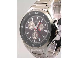 Croton CC311239SSBK Mens Steel Chrono Tachymeter Watch