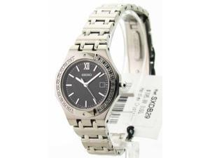 Seiko SXDB29 Womens Steel Diamond Date Watch