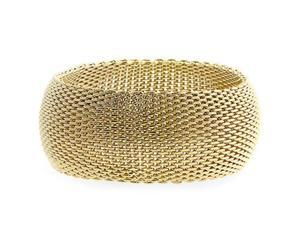 Monaco Gold Bangle Bracelet - BC00015G-V00