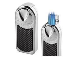 Visol VLR501003 Dobrev V 5 Jet Flame Carbon Fiber Table Lighter
