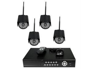 4CH DVR COMPLETE SYSTEM, 500GB HD 4 WIRELESS CAMERAS WITHOUT MONITOR