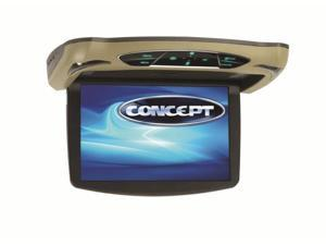 Concept CFD105 10.1 In. Wide Flipdown Digital Tft Lcd Monitor With Dvd