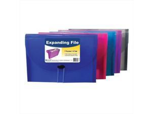 C-Line Products 58300BNDL4EA 7-Pocket Letter Size Expanding File - Color May Vary - Set of 4 Files