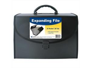 C-Line Products 58320 21-Pocket Legal Size Expanding File with Handle  Black  1 Ea.