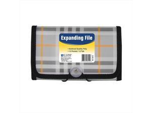 C-Line Products 58412BNDL6EA 13-Pocket Coupon Size Expanding File  Plaid - Set of 6 Files