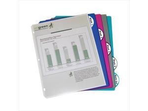 C-Line Products 05450BNDL12PK Biodegradable 5-Tab Poly Binder Index Dividers  Assorted  5-PK - Set of 12 PK