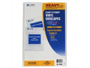 C-Line Products 84069BNDL50EA Clear 'N Sturdy Vinyl Envelopes  6 x 9 - Set of 50