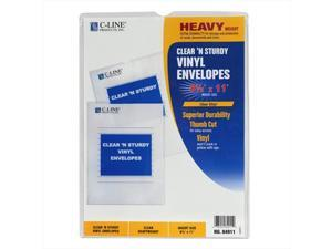 C-Line Products 84911BNDL50EA Clear 'N Sturdy Vinyl Envelopes  8-.5 x 11 - Set of 50