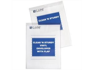 C-Line Products 86912BNDL50EA Clear 'N Sturdy Vinyl Envelopes with Flap  9 x 12 - Set of 50