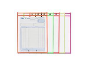 C-Line CLI43912 Shop Ticket Holder, 9 in. x 12 in., Metal Eyelet, Neon Orange