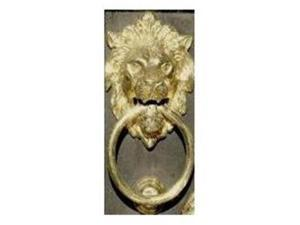 Mayer Mill Brass SML-C Small Lion Head Door Knocker - Chrome