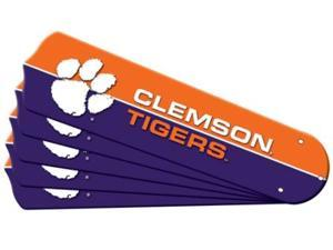 Ceiling Fan Designers 7990-CLE New NCAA CLEMSON TIGERS 52 in. Ceiling Fan Blade Set