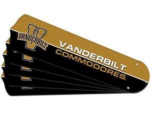 Ceiling Fan Designers 7990-VAN New NCAA VANDERBILT COMMODORES 52 in. Ceiling Fan Blade Set