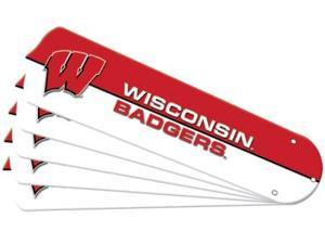 Ceiling Fan Designers 7990-WIS New NCAA WISCONSIN BADGERS 52 in. Ceiling Fan Blade Set