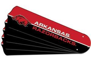 Ceiling Fan Designers 7992-ARK New NCAA ARKANSAS RAZORBACKS 42 in. Ceiling Fan Blade Set