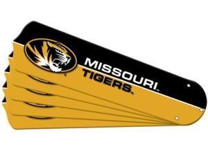 Ceiling Fan Designers 7990-MIZ New NCAA MISSOURI TIGERS 52 in. Ceiling Fan Blade Set
