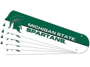Ceiling Fan Designers 7990-MST New NCAA MICHIGAN STATE SPARTANS 52 in. Ceiling Fan Blade Set
