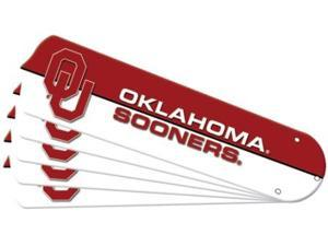 Ceiling Fan Designers 7990-OKL New NCAA OKLAHOMA SOONERS 52 in. Ceiling Fan Blade Set