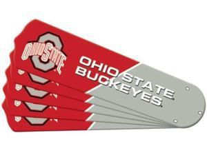 Ceiling Fan Designers 7990-OSU New NCAA OHIO STATE BUCKEYES 52 in. Ceiling Fan Blade Set