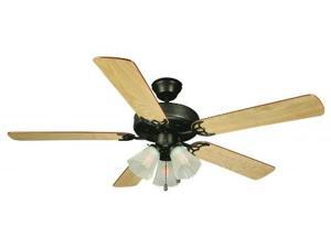 Design House 153932 Millbridge 52 in. 3-Light 5-Blade Ceiling Fan, Dark Mahogany or Light Maple Blades