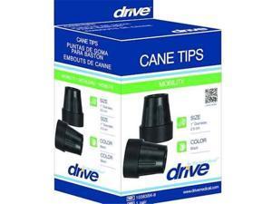 CMS 1755A Cane Tips for 1  Cane Diameter Black -Pair-  Retail Box