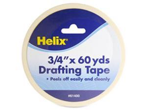 Helix HLX61400 Drafting Tape, .75 in. x 60 Yards, 5-RL, Cream