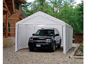 ShelterLogic 25774 12×20 White Canopy Enclosure Kit, Fits 2 in. Frame