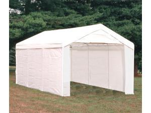 ShelterLogic 23532 10 ft. -20 ft.  Canopy, 1-.38 in.  8-Leg Frame, White Cover, Enclosure & Extension Kits