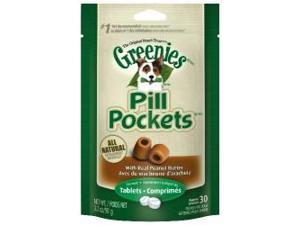 Greenies 642863101267 PILL POCKETS DOG PEANUT BUTTER 3.2 OZ 30 PIECE PER BAG
